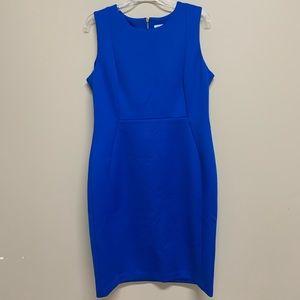 New Calvin Klein Blue Sheath Scuba Dress